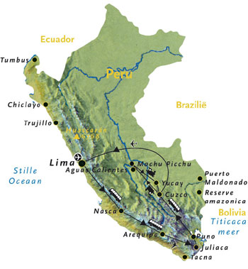 Routekaart Peru