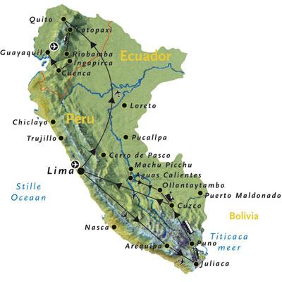 Route peru en equador