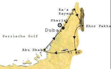 Routekaart Dubai