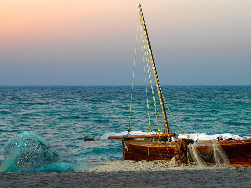 Langs de kust van de emiraten wordt veel gevist.