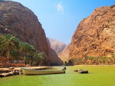 Wadi Shab is de bekendse wadi van Oman.