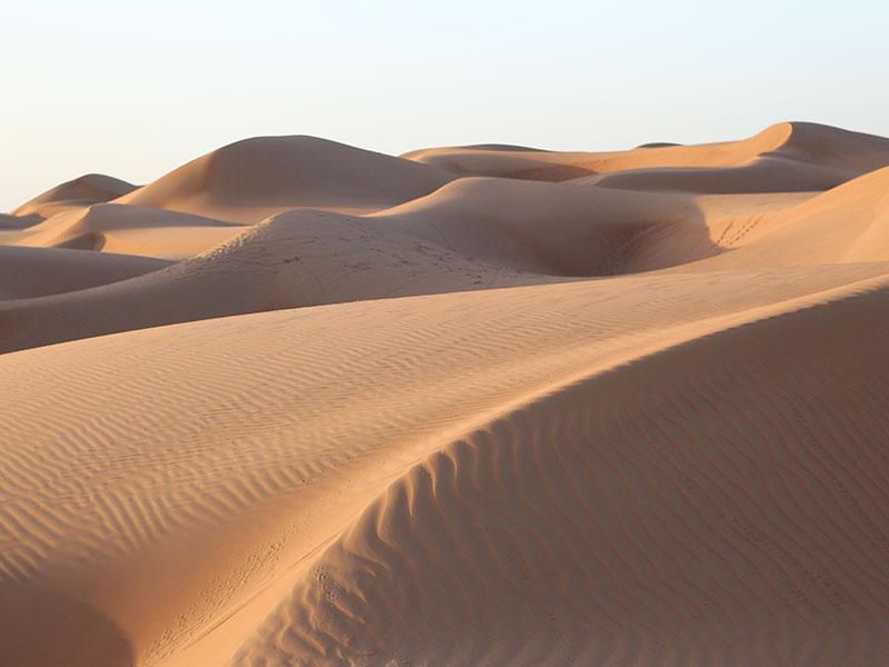 In de Wahiba Sands woestijn verblijft u 1 nacht tijdens de rondreis Oman.