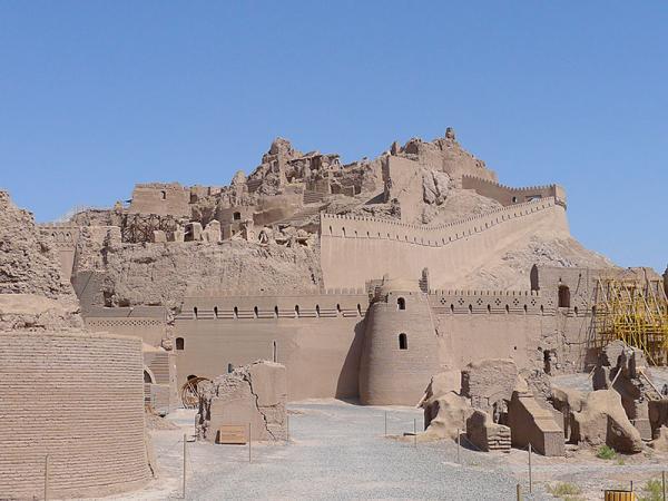 De citadel van Bam in Iran bezoekt u tijdens de rondreis
