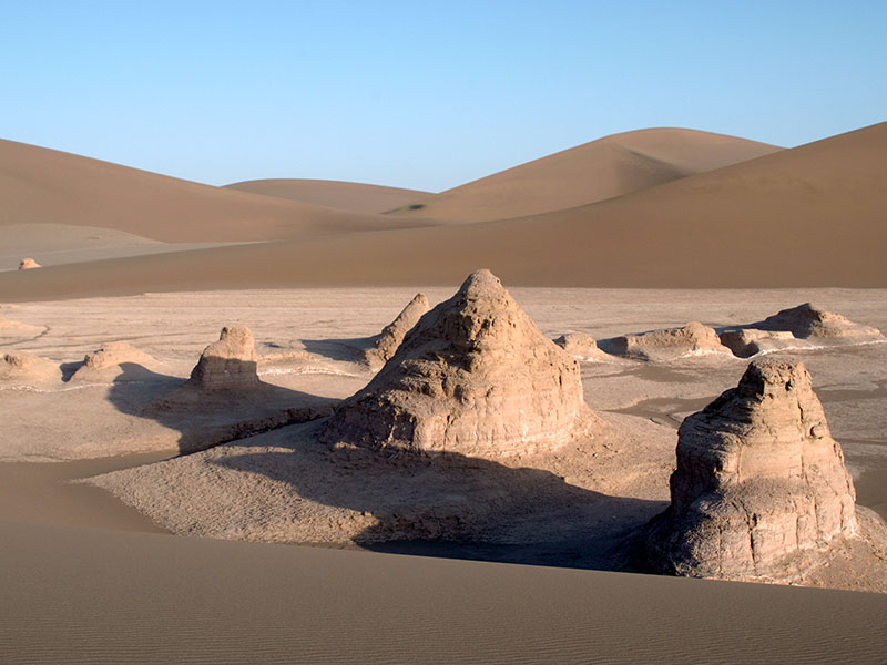 Kaluts in de woestijn van Iran