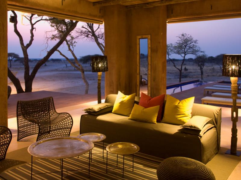 In Namibie verblijft u in prachtige lodges tijdens de rondreizen.