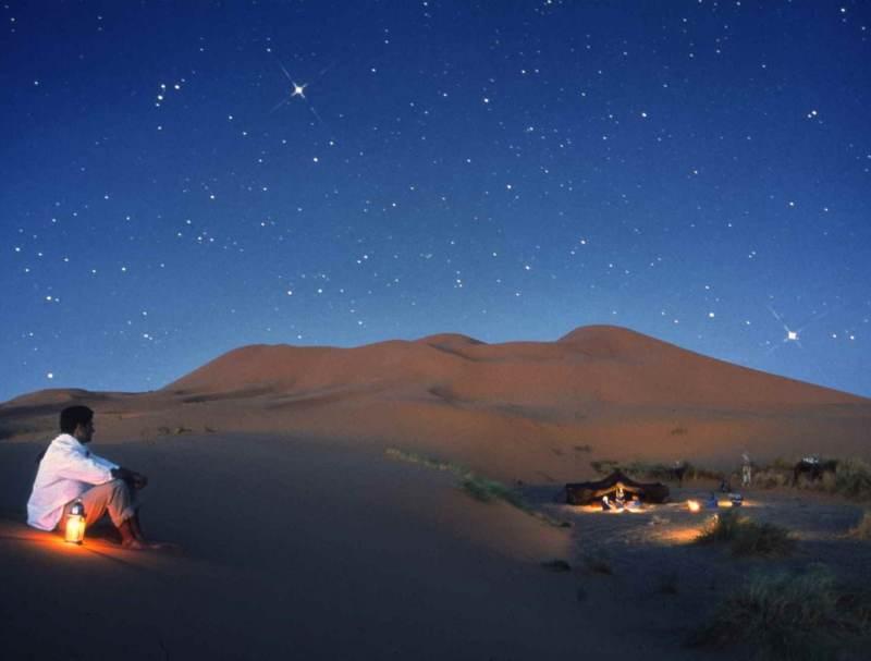 Ook de nachten zijn onvergetelijk in de sahara van Zuid-Marokko