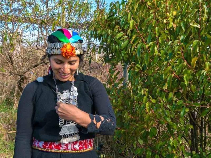 Bevolking uit Chili in chileense klederdracht