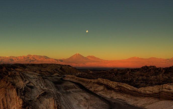Het prachtige Moon valley gelegen in Atacama Desert in Chili