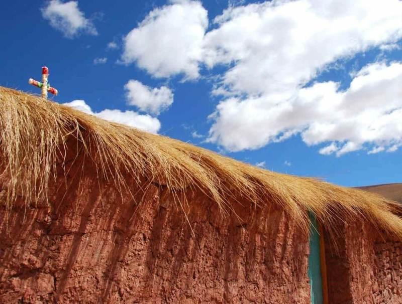 De blauwe wolken en omgeving van Noord Chili