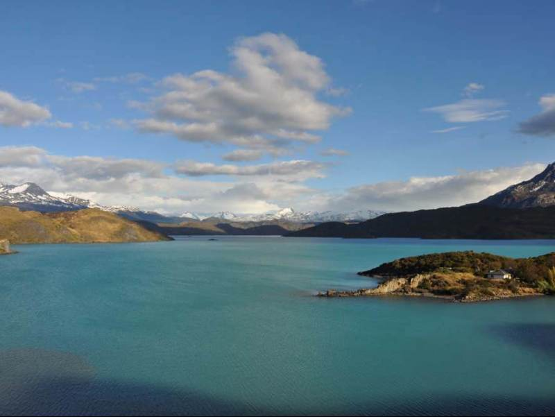 Het uitzicht en landschap van Torres Del Paine