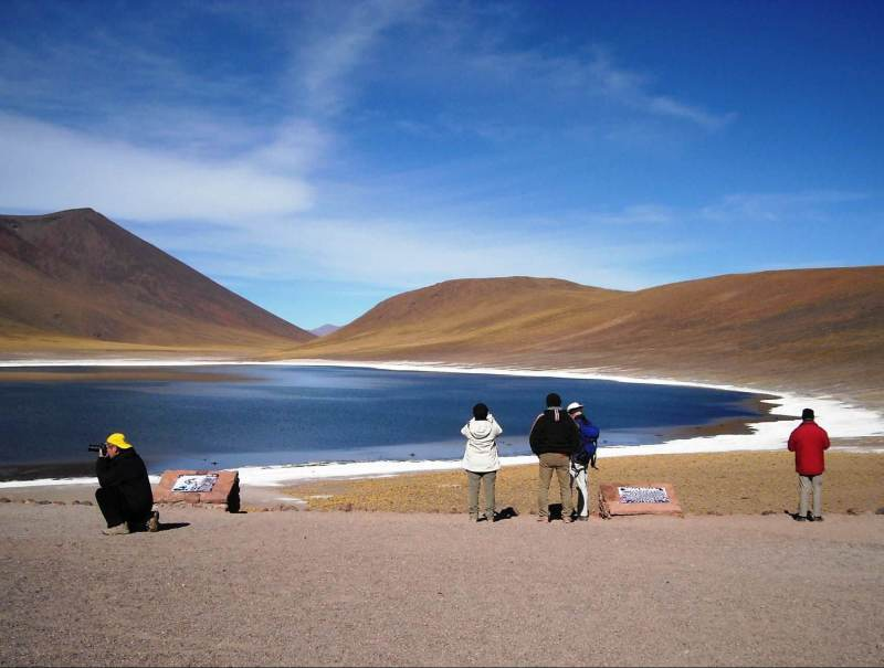 Een foto van het mooie landschap van Chili en Argentinië