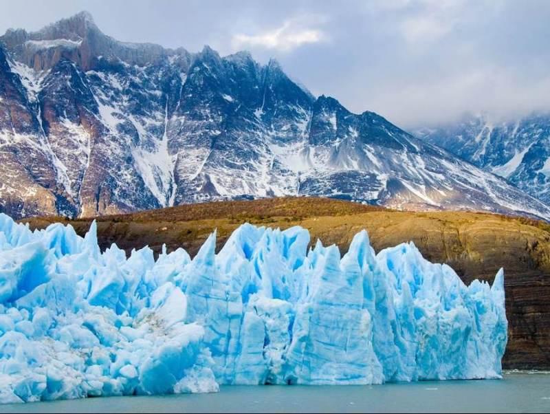 tijdens uw rondreis Chili en Argentinië door Patagonië komt u bergen en felblauwe gletsjers tegen