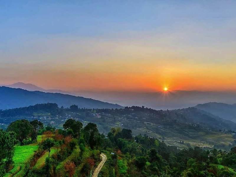 Nagarkot, gelegen in de natuur van nepal en een van de vakantie bestemmingen